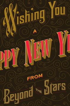 Happy New Year by Anton Burmistrov, via Behance