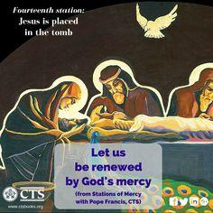 Fourteenth Station of #Mercy #Lent2016 #Cross