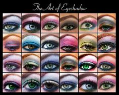 The art of eyeshadow by theinvisiblewombat, via Flickr
