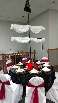 Pirates of the Caribbean table at my daughter's Disney themed wedding