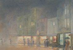 Yoshio Markino (1874-1956) - In the Broad, Oxford