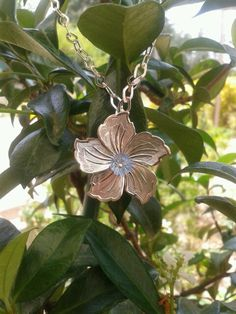 Collar de Flor en plata