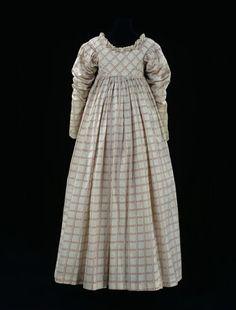 Printed cotton dress, V, ca. 1814