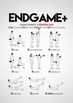 Endgame Plus is a full body strength workout with dumbbells. Dumbell Full Body Workout, Calisthenics Workout Plan, Dumbbell Workout Routine, Full Body Dumbbell Workout, Full Body Workout Routine, Full Body Workout At Home, Strength Workout, At Home Workouts, Forearm Workout