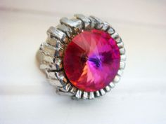 RARE One of a Kind Color Changing Crystal Ring by JennKoDesign, $85.00