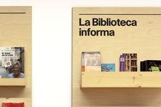 Bonnemaison Public Library Signage. Biblioteques de Barcelona.