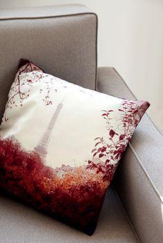VINTAGE PARIS Decorative Pillow, By MADURA