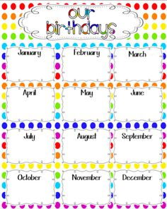 birthday chart template for classroom - 1000 images about beginning of the year on pinterest