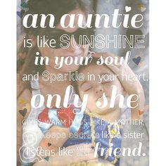 Aunties are so special and this print is especially special to us as the photo is a picture of our very own social media guru Jaclyn and her niece! We love how this print shows your aunt how special she is to you and is fully customizable with a pic of you guys