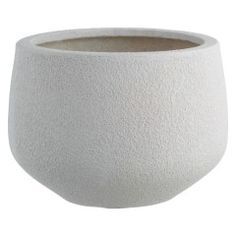A simple bowl shape that suits both structural and bedding plants, the Digby white textured planter is made from fibreglass and has a matt finish. Buy now at Habitat UK. Outdoor Planters, Garden Planters, Outdoor Gardens, Planter Pots, Outside Living, Outdoor Living, Garden Furniture Design, Garden Table And Chairs, London Garden