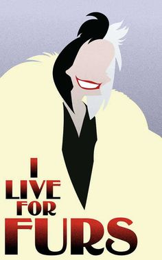 Cruella De Vil - 101Dalmatians / Disney Villains Inspired - Movie Art Poster