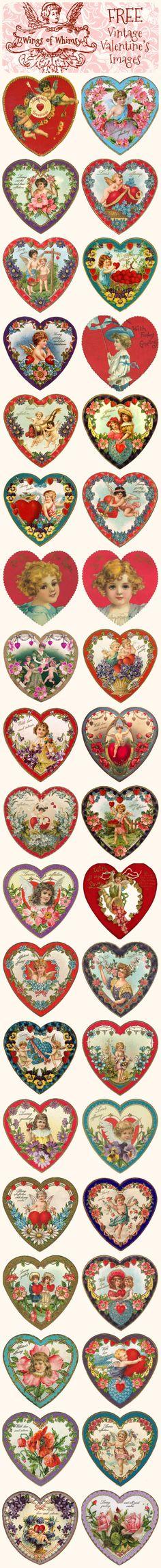 Vintage Valentine's Hearts – DAY 5