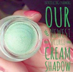 I'm totally in love with our newest Splurge Cream Shadow in Charming!! It's a gorgeous seafoam green color and it glides on smoothly and lasts for hours without creasing into your lids! It's a must have for every makeup addict! www.FabuliciousLashes.com #splurge #creamshadow #charming #seafoam #green #younique #longlasting #alldaywear #shimmer #nocreasing #creamy #eyes #eyeshadow #makeup #makeupaddict #mua #makeupjunkie #weallneedtosplurge