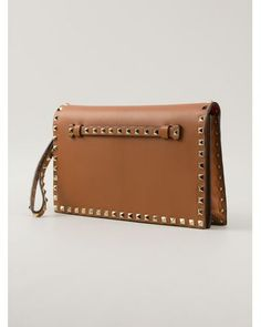 Buy Valentino Women's Brown Rockstud Clutch, starting at $1142. Similar products also available. SALE now on!