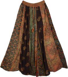 Designer Panel Hippie Long Skirt