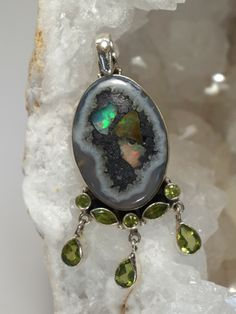 Ethiopian Opal and Peridot Pendant 1