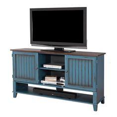 Martin Furniture Ellington Deluxe TV Console In Blue