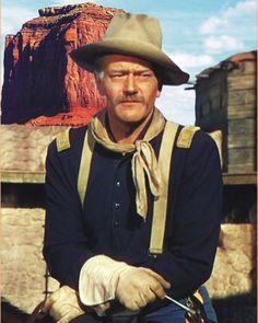 She Wore a Yellow Ribbon John Wayne Quotes, John Wayne Movies, Vintage Hollywood, Classic Hollywood, Military Songs, Iowa, Cowboy Films, Francois Truffaut, John Ford