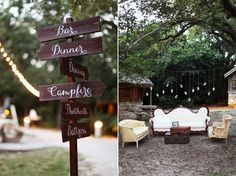 rustic woodsy DIY vintage wedding miami florida antique furniture outdoors