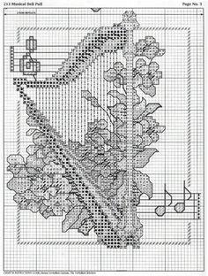 Schema punto croce Strumenti A Corde 05