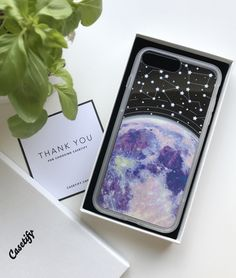 Casetify iPhone 7 Case and Other iPhone Covers -Blue moon and stars constellations by MARTA OLGA KLARA | #Casetify #pastel #moon #stars #phonecase