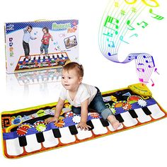 RenFox Kids Musical Mats, Music Piano Keyboard Dance Floor Mat Carpet Animal Blanket Touch Playmat Early Education Toys for Baby Toddler Infants Girls – Shopping Guide Piano Musical, Musical Toys, Baby Girl Toys, Baby Play, Piano Play Mat, Activity Cube, Activity Centers, 1st Birthday Gifts, Baby Shower