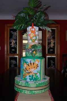 Diaper cake with bedding set