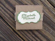 Elizabeth Green Brown Accordion Unique Wedding Programs Rustic Woodland Shabby Chic on Etsy, $1.95