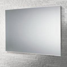 Landscape or portrait rectangular bevelled edge mirror. Reece Bathroom, Mirror Border, Illuminated Mirrors, Parisienne Chic, Visual Effects, Wall Tiles, Clear Glass, Oversized Mirror, Jackson