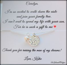 Mother of the Groom gift from bride Mother of by SoBlessedDesigns