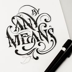 Lettering by Andreas Grey