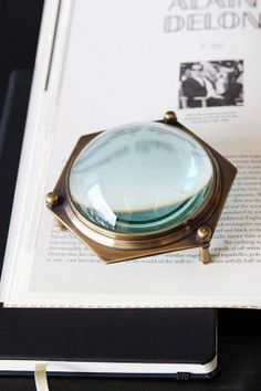 Hexagon Table Magnifier from Rockett St George Rockett St George, Room Of One's Own, New Beds, Home Accessories, Gemstone Rings, Vintage Fashion, Design Inspiration, Ornaments, Mirror
