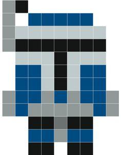 Jango Fett pixel art - Stickaz