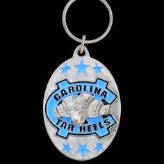 Football Fanatics North Carolina State Wolfpack Pewter Primary Logo Keychain