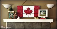 Crow's Feet Chic: Gearing Up for Canada Day! Canada Flag out of old boards Canada Day Flag, Canada Day Shirts, Canada Day Party, Canada Eh, Canada Day Crafts, Canada Holiday, Reclaimed Lumber, Weathered Wood, Rustic Wood