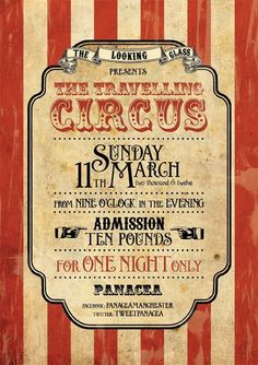 Roll up roll up as the the Looking Glass presents ..The Travelling Circus 11.3.12