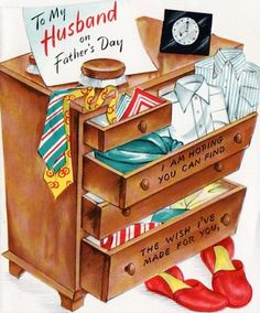 Father's Day Card Man's Dresser