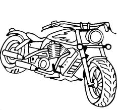 Harley-Davidson Coloring Pages to Print   Free Motorcycle coloring ...