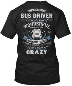 This design is available in Haness T and V-neck shirts, Hoodies and large stickers. 15 colors to choose from, and sizes through (Click the drop down arrow below) Bus Driver Gifts, School Bus Driver, School Buses, Bus Driver Appreciation, Teacher Appreciation Week, Drivers Permit Test, Bus Humor, School Custodian, Bus Life