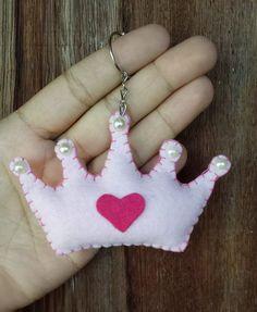 lembrancinha chaveiro coroa de princesa