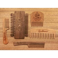 """The collection grows. Here's a shot with the new No.16 """"Hardwood Blade"""" thrown in for size comparison. Which Big Red Comb Do you use?#bigredbeardcombs #beardcomb #beardbalm #beardoil #beardsoap  #beard #beards #bearded #pocketcomb #beardsofinstagram"""
