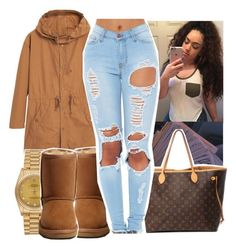 """"" by aribearie ❤ liked on Polyvore featuring MANGO, UGG Australia, Louis Vuitton and Rolex"