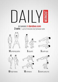 DAREBEE.com Easy Daily Workout/ лёгкая интенсивная тренировка для всего тела /   фитнес, воркаут, упражнения, похудение, здоровье, зож