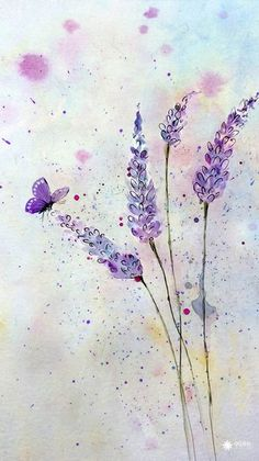 Ideas For Tree Drawing Watercolor Watercolour Butterfly Watercolor, Watercolor Trees, Watercolor Cards, Floral Watercolor, Watercolor Paintings, Artwork Paintings, Butterfly Painting, Butterfly Artwork, Tree Paintings