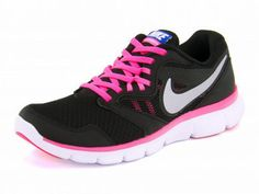 Nike Womens Flex Experience RN 3 MSL Running Trainers Shoes - Black Pink  Silver