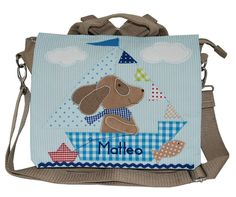 Rucksäcke - Kindergartenrucksack mit Namen- Hund, ahoi!- beige - Kindergartentasche Kindetrgarten Hund http://de.dawanda.com/product/93869171-kindergartenrucksack-mit-namen-hund-ahoi-beige meinegeschenkideen2016