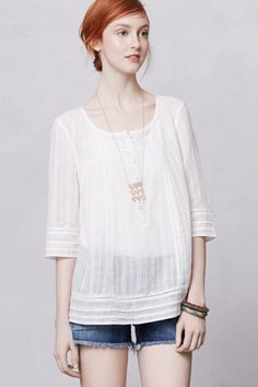 Henley Peasant Top - Anthropologie.com