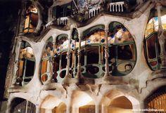 Casa Batllo-Facade detail Antonio Gaudi, Barcelona, Spain