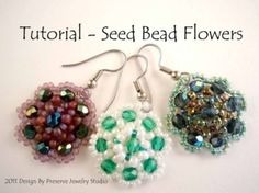 seed bead flower earrings by MissPris