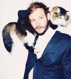 Bon Iver's Justin Vernon - papa of rescued kitties, Flo & Melmon